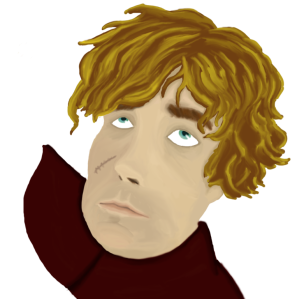 Digital Art Portrait of Peter Dinklage as Tyrion Lannister from Game of Thrones' Season